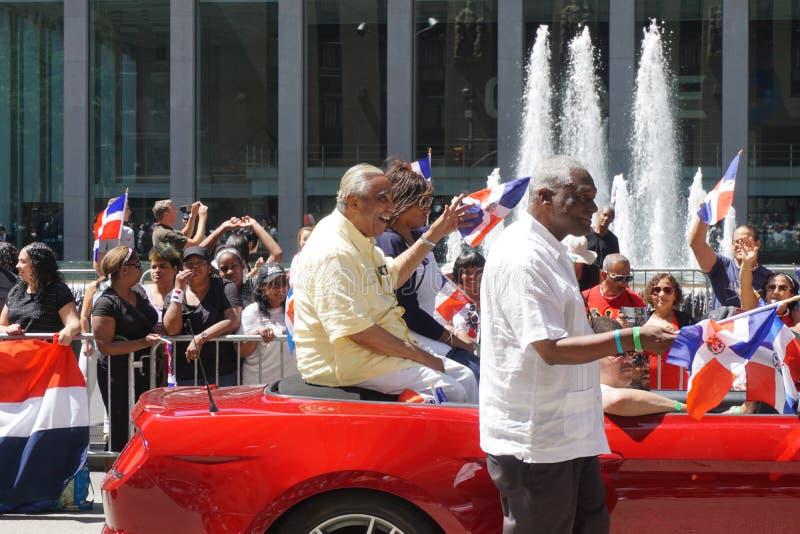 Den dominikanska dagen för 2015 NYC ståtar royaltyfri bild