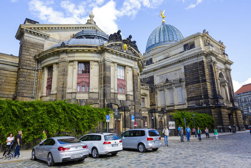 Den Dresden akademin av konster royaltyfri foto