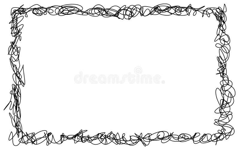 Den drog abstrakta handen klottrar klotterramen vektor illustrationer