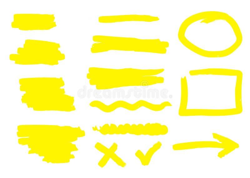 Den drog handen formar och linjer som isoleras på vit bakgrund också vektor för coreldrawillustration vektor illustrationer