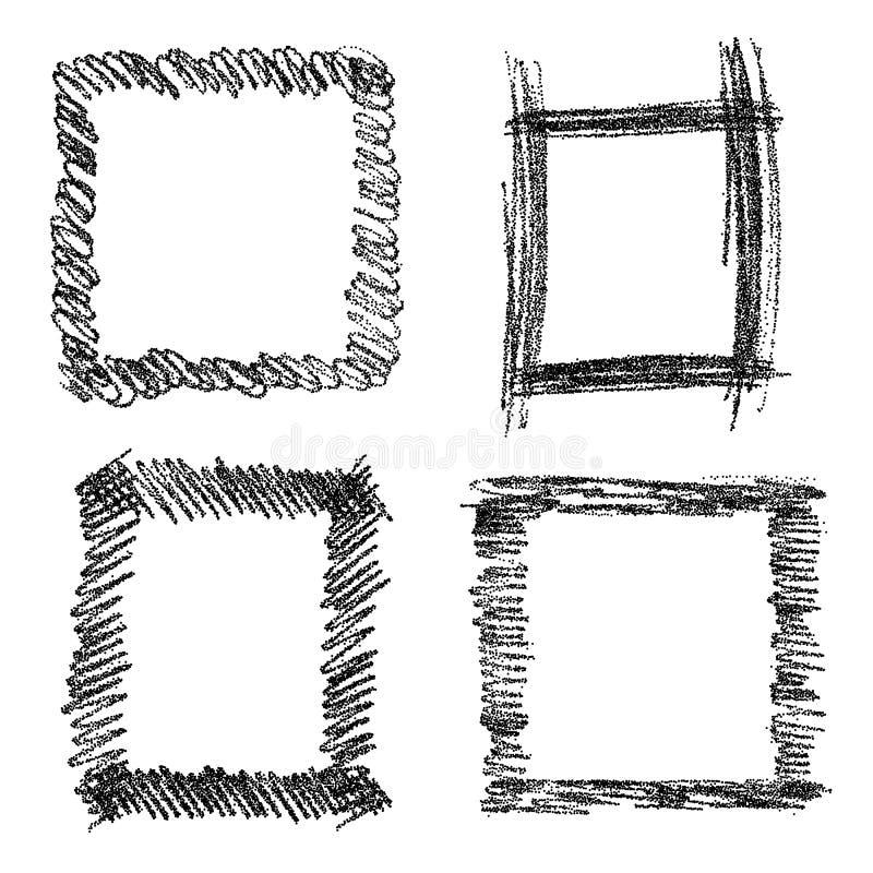 Den drog handen klottrar former vektor illustrationer