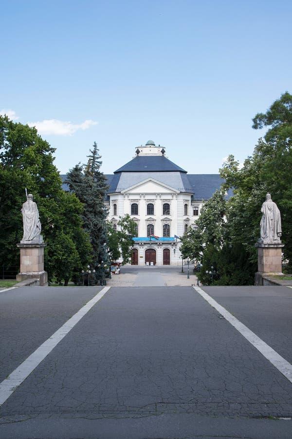 Den Eger lyceumen, Ungern arkivfoton