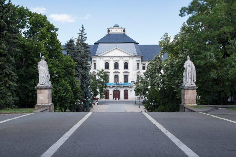Den Eger lyceumen, Ungern arkivfoto
