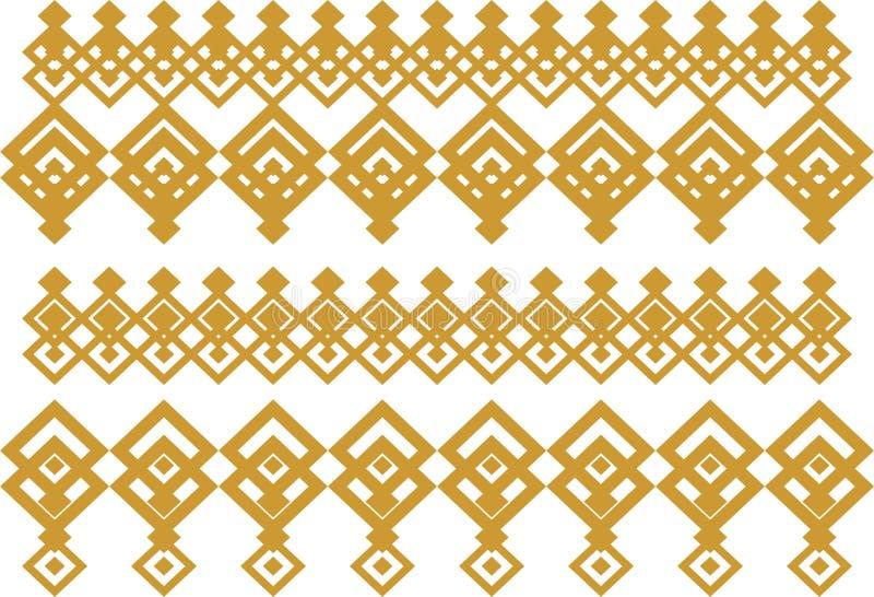 Den eleganta dekorativa gränsen utgjorde av fyrkantigt guld- och vit 15 arkivfoto