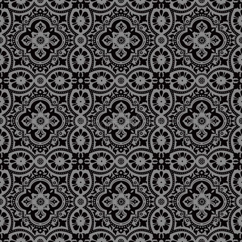 Den eleganta mörka antika bakgrundsbilden av snör åt den runda kalejdoskopet för blomman royaltyfri illustrationer