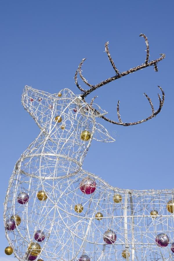 Den elektriska julrenen royaltyfri bild