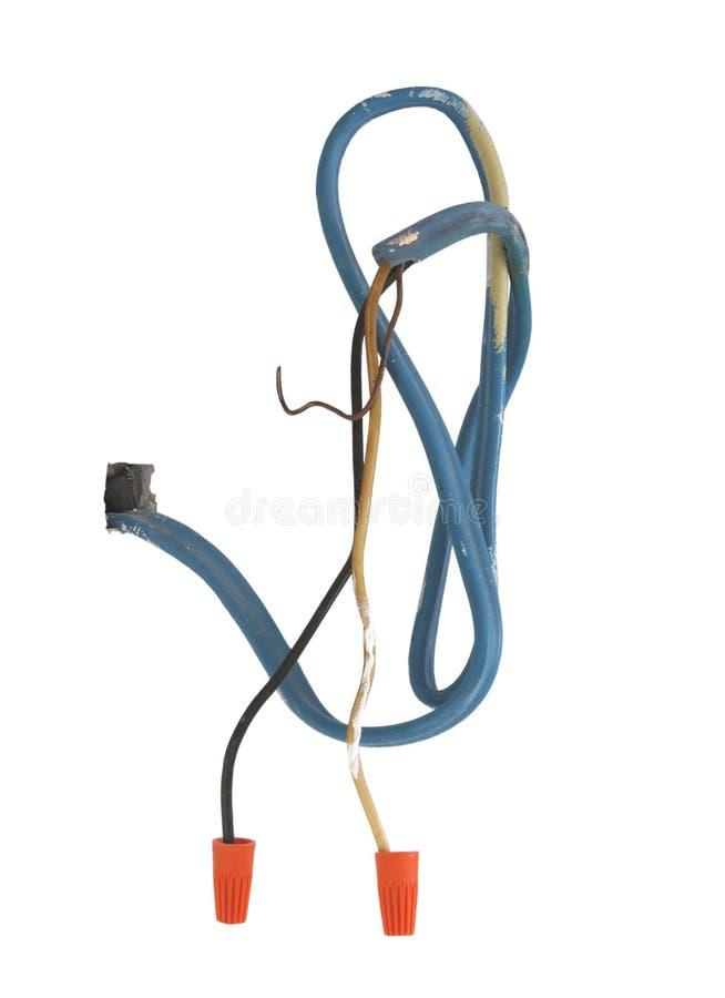 Den elektriska skurkrollen binder kommande från väggen. royaltyfri bild