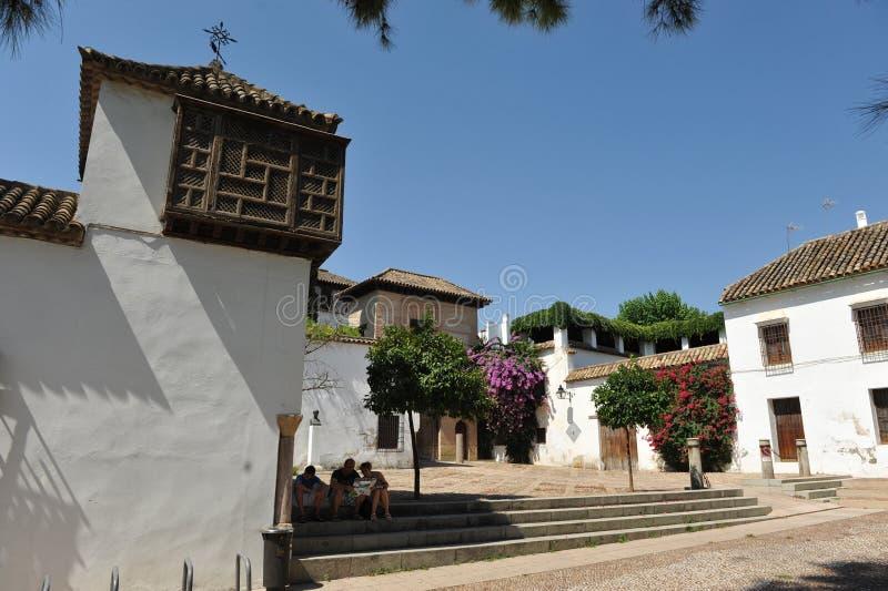 Den Eliaj Nahamias fyrkanten, Cordoba, Spanien royaltyfri foto