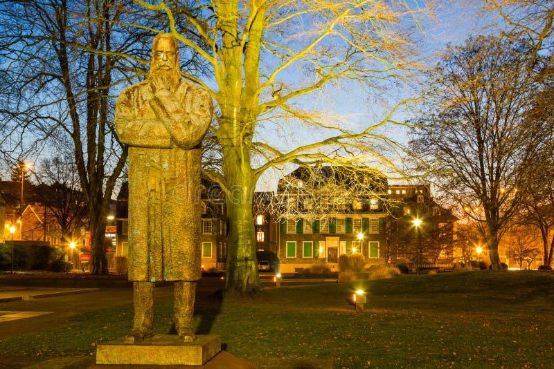 Den Engels minnesmärken i Wuppertal bartendrar, Tyskland royaltyfri bild