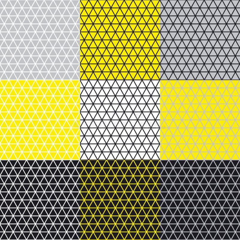 Den enkla geometrimodellen med linjen mosar royaltyfri illustrationer