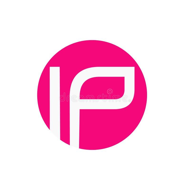 Den enkla logoen med skriver in formen royaltyfri illustrationer