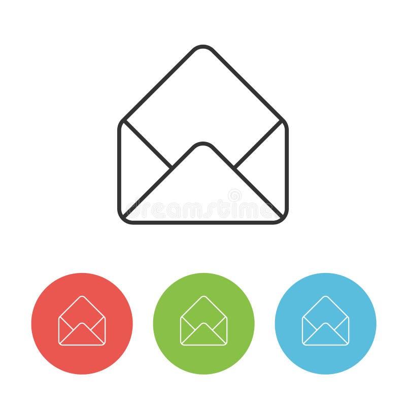 Den enkla symbolen av öppet packar in royaltyfri illustrationer