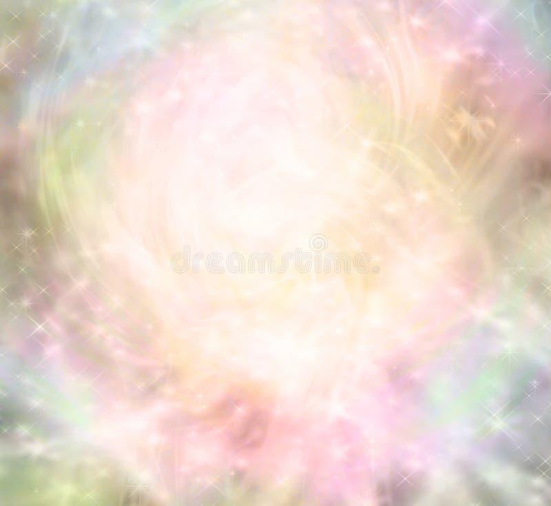Den eteriska magiska fen gillar bakgrund stock illustrationer