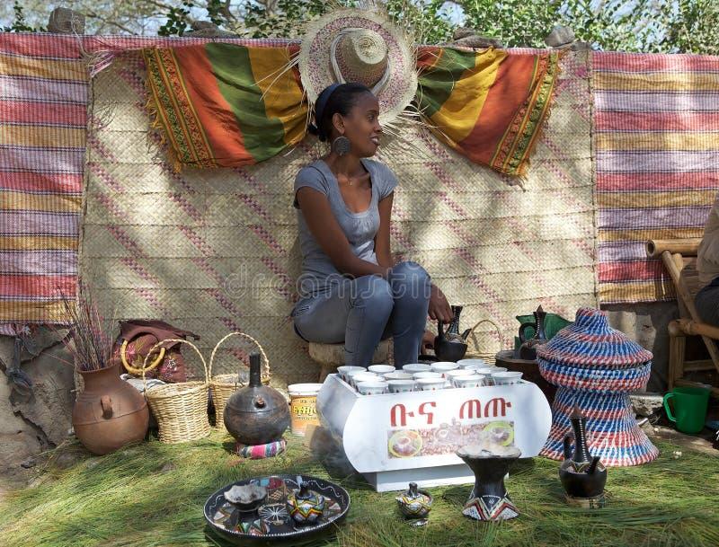 Traditionell afrikansk cofee royaltyfria foton