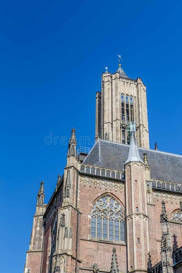 Den Eusebius kyrkan i Arnhem i Nederländerna royaltyfria foton