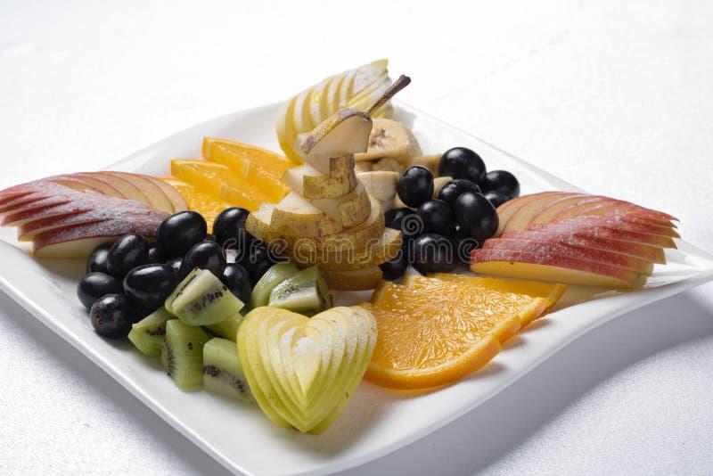 Den exotiska frukosten, riktig näring för förlorar upp vikt, slut arkivbild