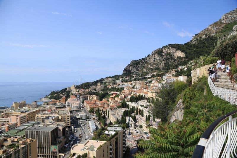 Den exotiska trädgården av Monaco fotografering för bildbyråer