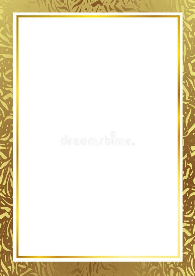 den extra illustratören för guld för ramen för Adobeeps-formatet inkluderar stock illustrationer