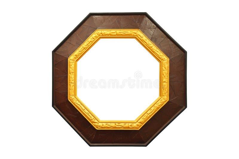 den extra illustratören för guld för ramen för Adobeeps-formatet inkluderar royaltyfri fotografi