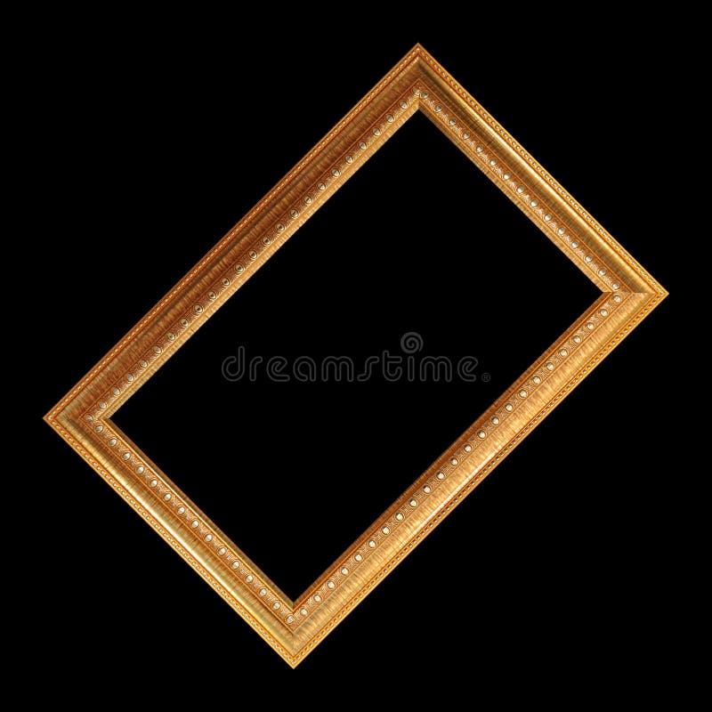den extra illustratören för guld för ramen för Adobeeps-formatet inkluderar arkivbild