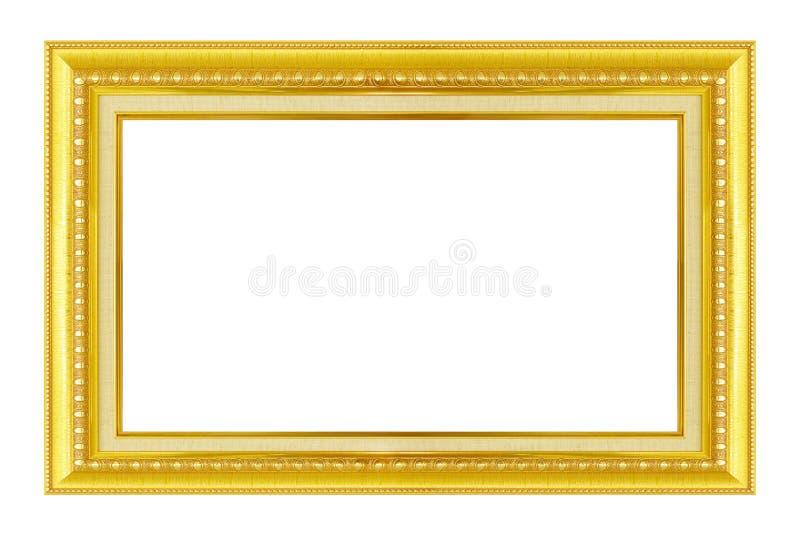 den extra illustratören för guld för ramen för Adobeeps-formatet inkluderar Guld-/förgylld ram för konsthantverkmodellbild royaltyfria bilder