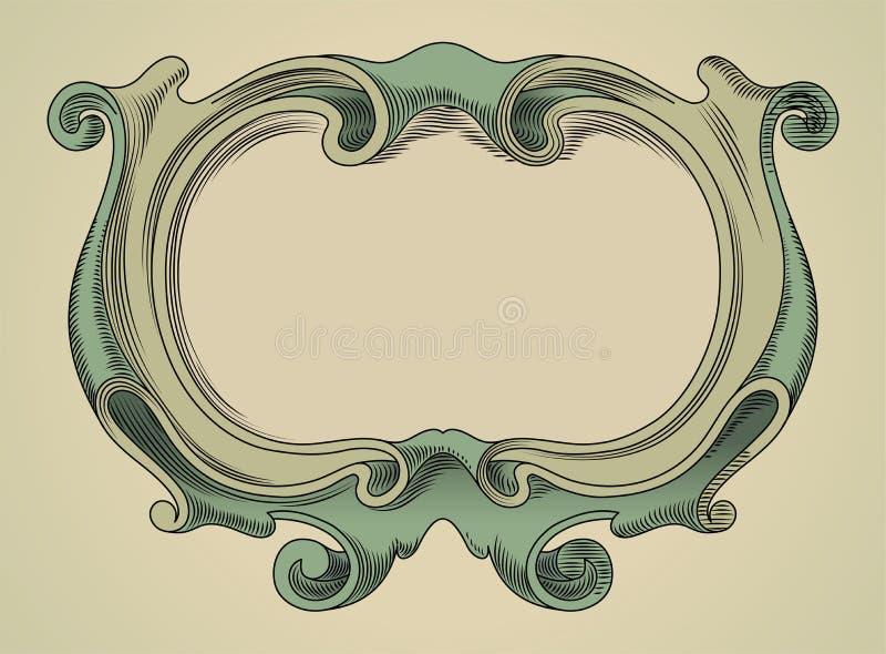 den extra illustratören för ramen för Adobeeps-formatet inkluderar vektorn vektor illustrationer