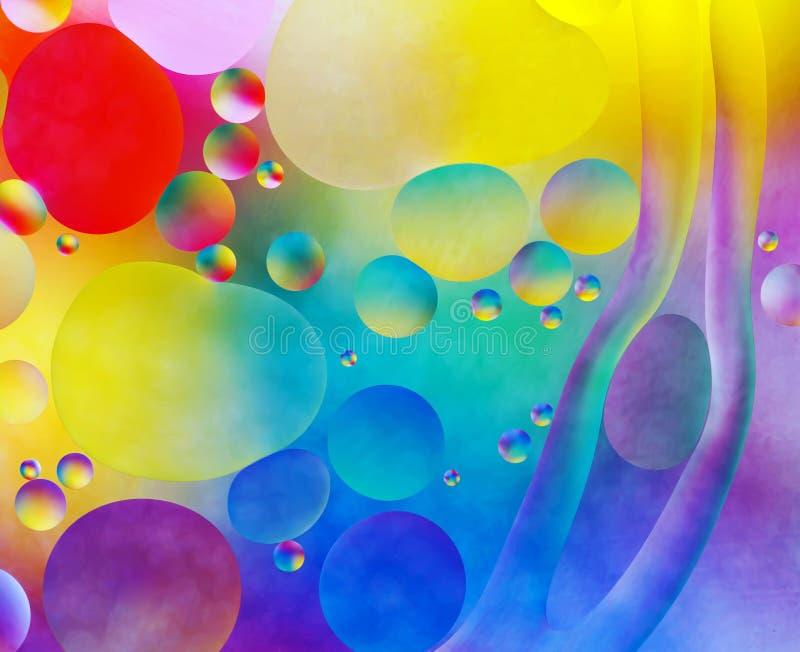 Den färgrika abstrakt begrepp bubblar arkivbilder