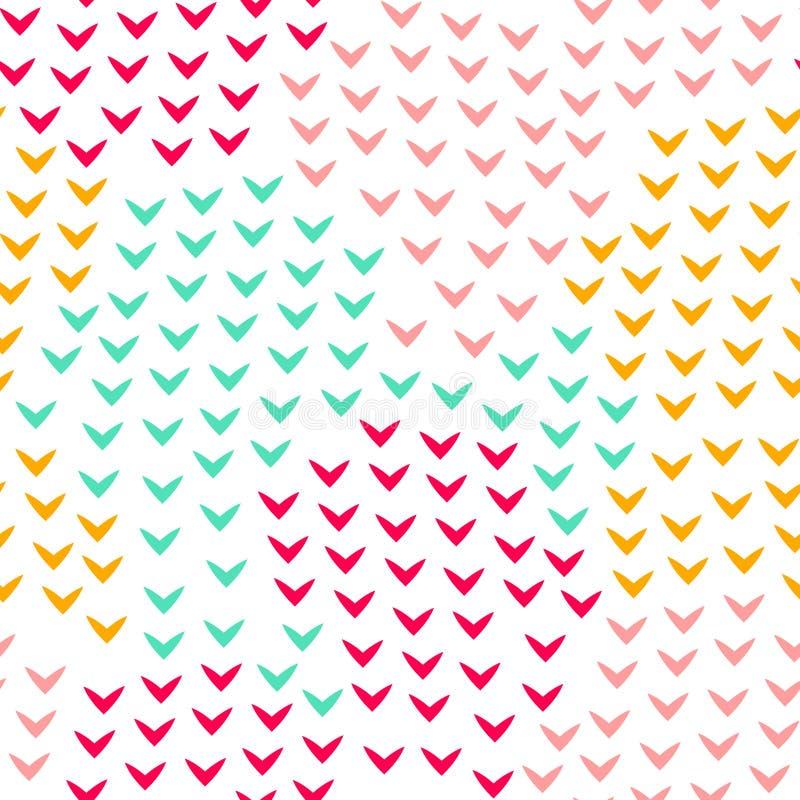 Den färgrika abstrakta enkla vinkeln formar den geometriska sömlösa modellen, vektor royaltyfri illustrationer