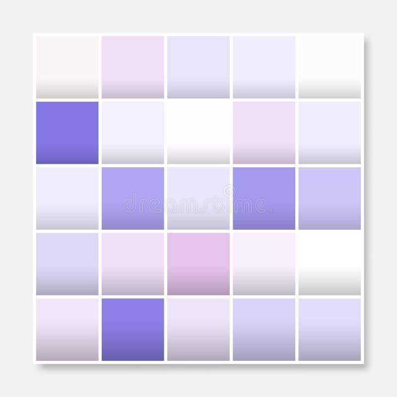 Den färgrika fyrkantbakgrundsramen, blockerar mjuka pastellfärgade purpurfärgade rosa färger vektor illustrationer