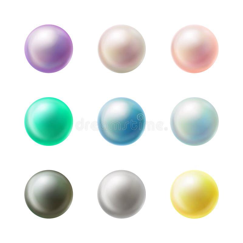 Den färgrika tomma rundan knäppas den realistiska vektoruppsättningen royaltyfri illustrationer