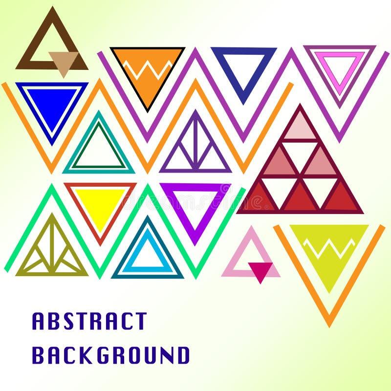 Den färgrika triangeln skapar bakgrund royaltyfri foto
