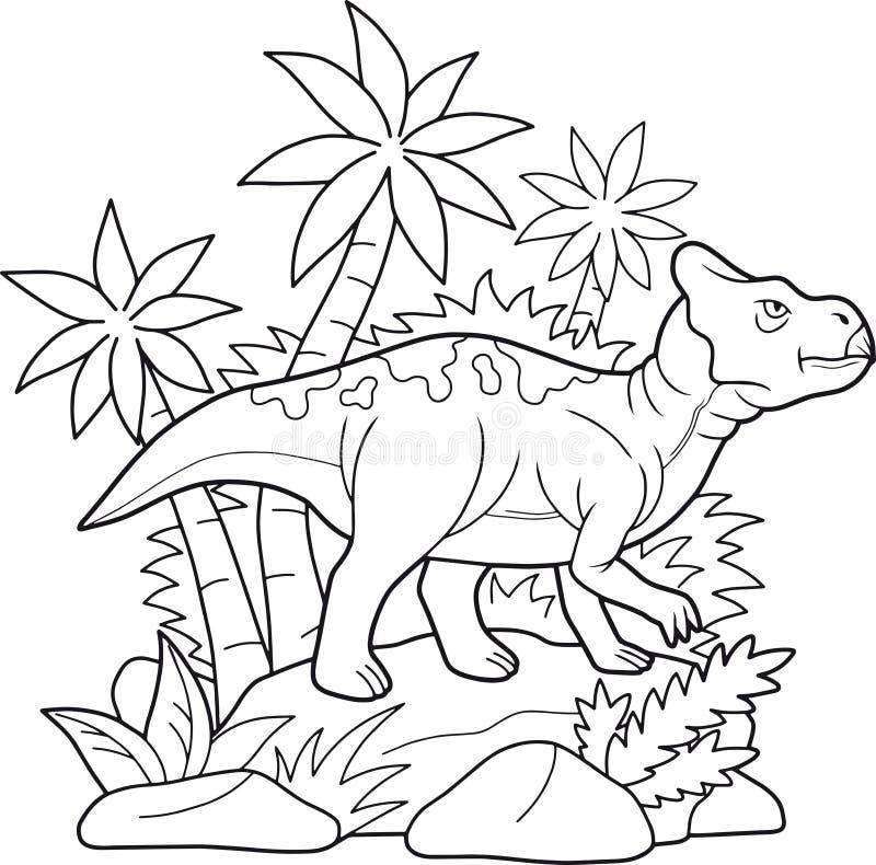 Den förhistoriska reptilen gick för en gå royaltyfri illustrationer