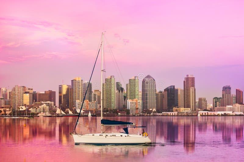 San Diego horisont arkivbild