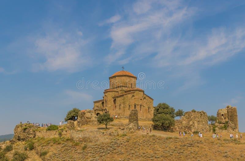 Den fantastiska Jvari kloster, Georgia arkivfoto