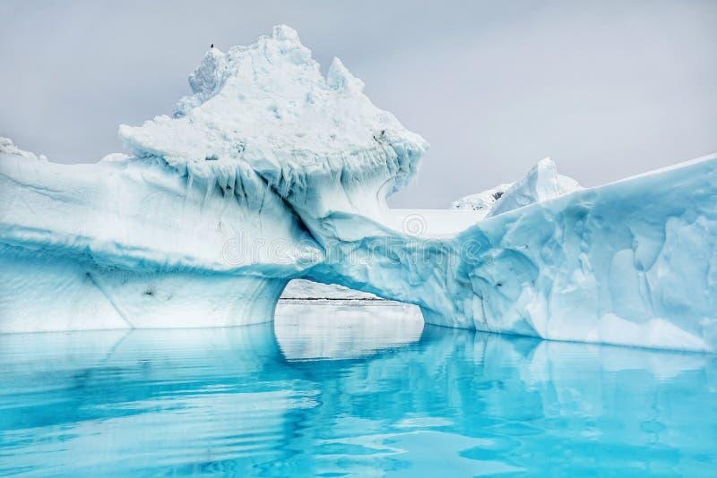 Den fantastiska landcapen av Antarktis fotografering för bildbyråer
