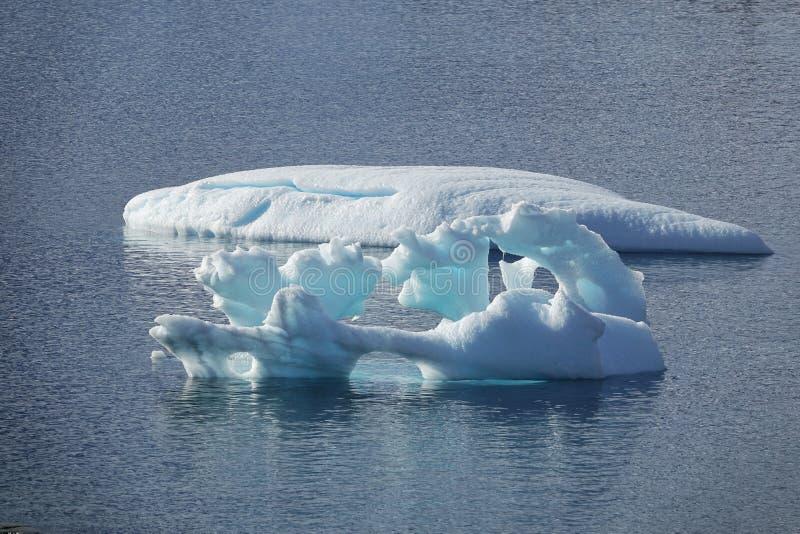 Den fantastiska landcapen av Antarktis arkivbilder