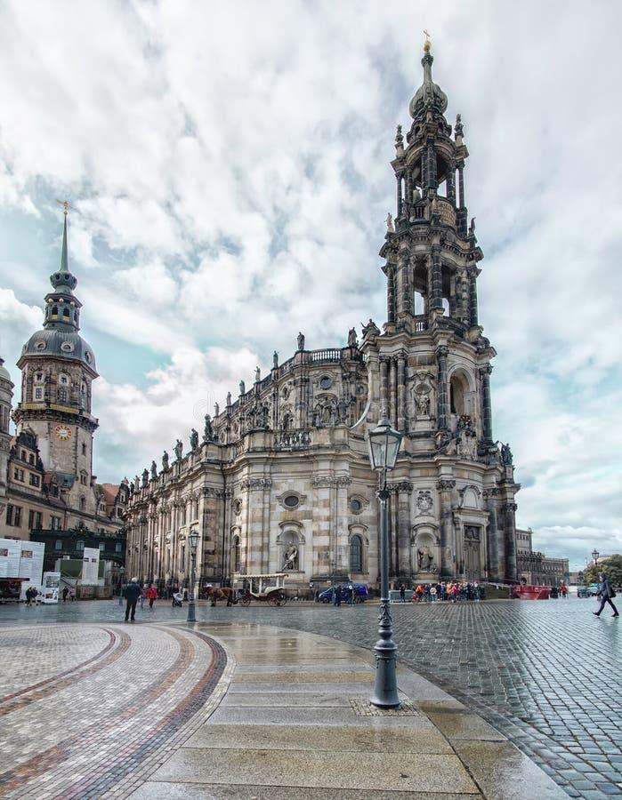 Den fantastiska staden av Dresden i Tyskland Europeisk historisk cent royaltyfri foto