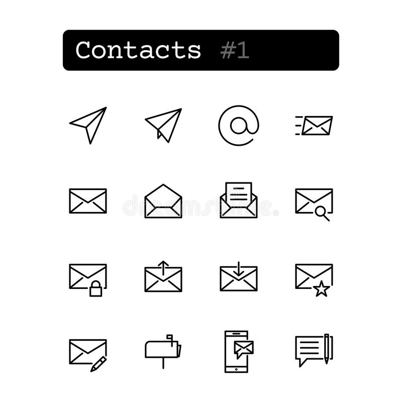 Den fastställda linjen gör symboler tunnare stock illustrationer