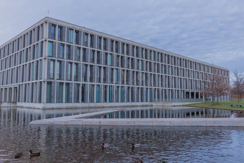 Den federala arbets- domstolen i erfurt, thuringia royaltyfri fotografi