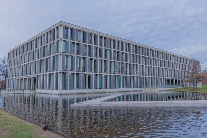 Den federala arbets- domstolen i erfurt, thuringia royaltyfria bilder
