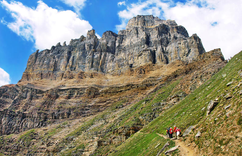 In den felsigen Bergen wandern, Alberta, Kanada stockbilder