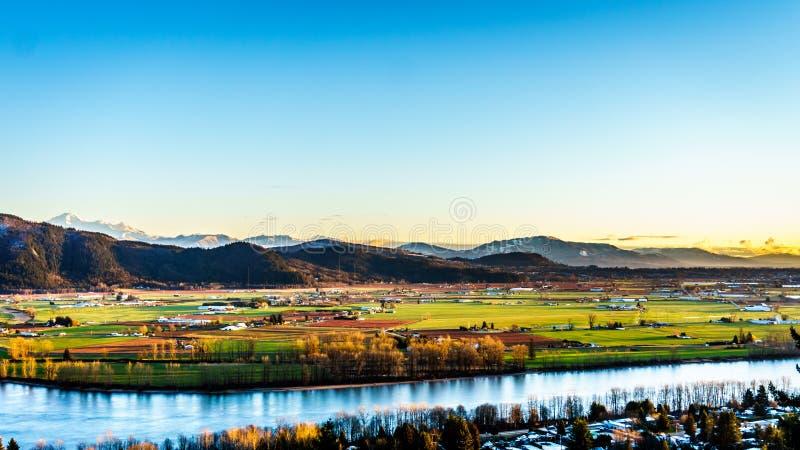 Den fertila jordbruksmarken av Fraser Valley i British Columbia royaltyfri bild