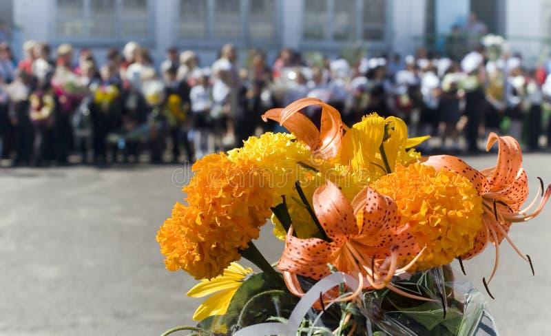 den festliga blomman semestrar skolan royaltyfri bild