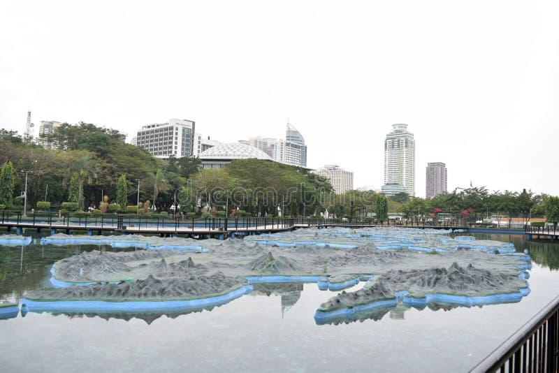 Den filippinska översikten i Luneta parkerar arkivbild