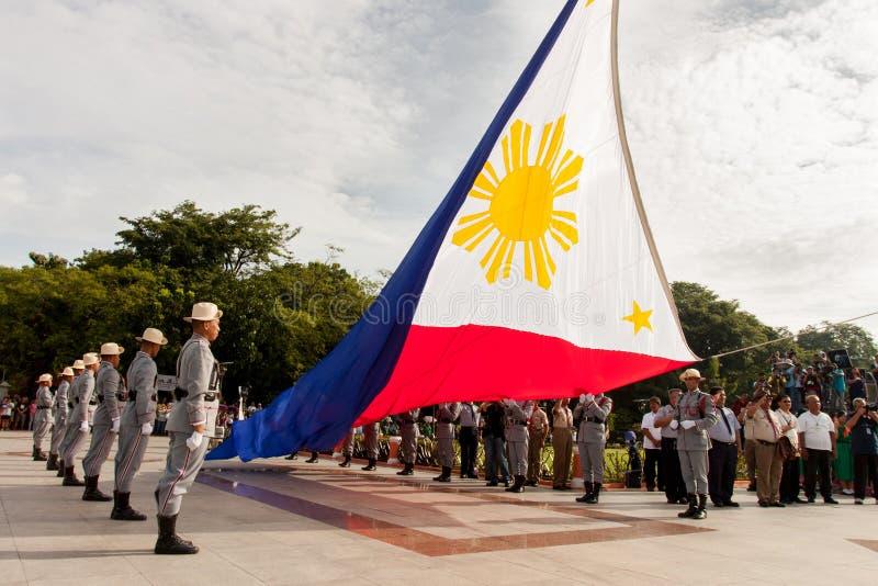 Den filippinska självständighetsdagen som rymms i Luneta, parkerar, Manila royaltyfri foto