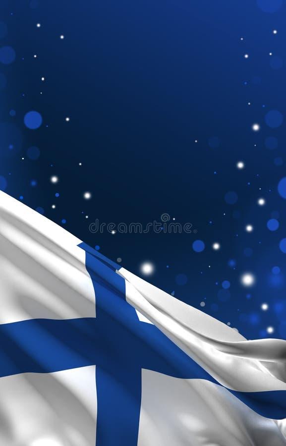 Den finlandssvenska flaggan, Finland färgbakgrund, 3D framför vektor illustrationer