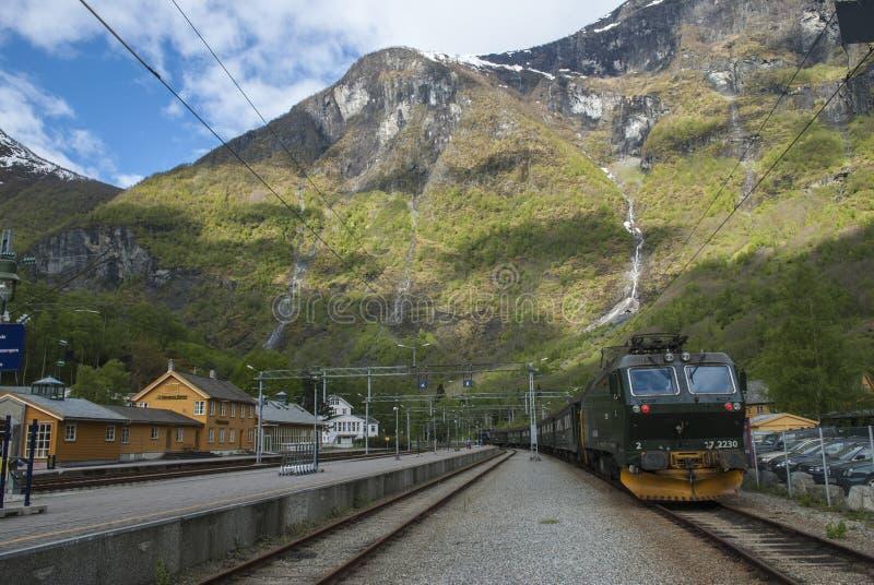 Den Flam järnvägen arkivbilder