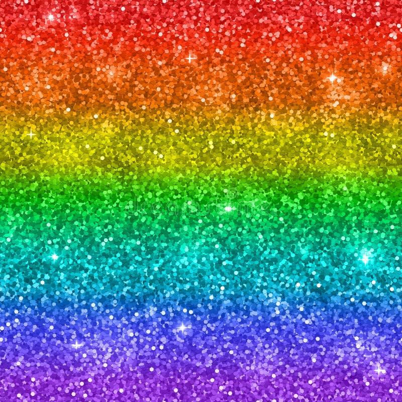 Den flerfärgade regnbågen blänker bakgrund vektor