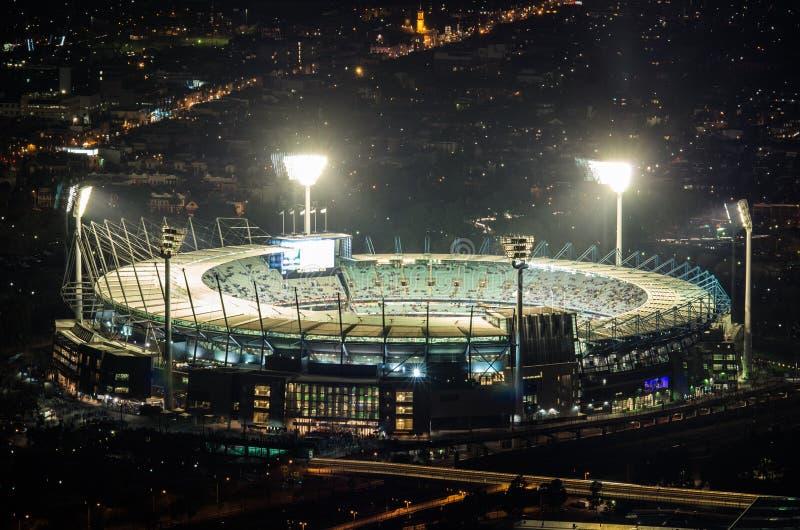 Den flyg- sikten av den Melbourne syrsan grundar i Australien fotografering för bildbyråer