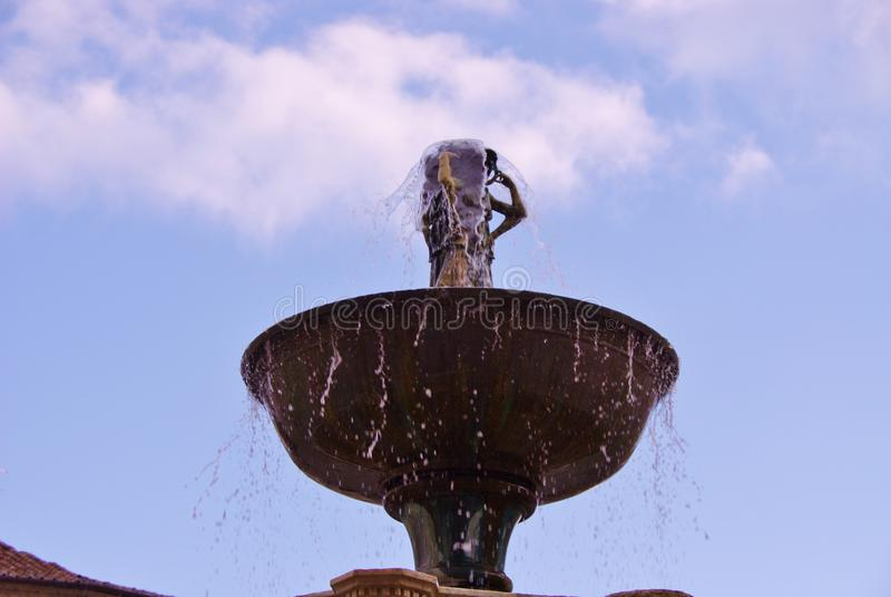 Den Fontana maggioren i Perugia arkivfoton